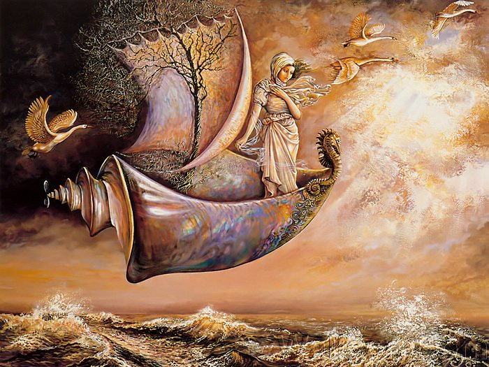 Josephine Wall Art Wallpaper Strange Craft   Josephine Wall Mythical 700x525