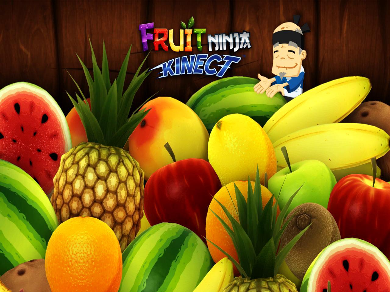 Fruit Ninja Cute Old Ninja and Fruits Illustration HD Wallpaper 1280x960