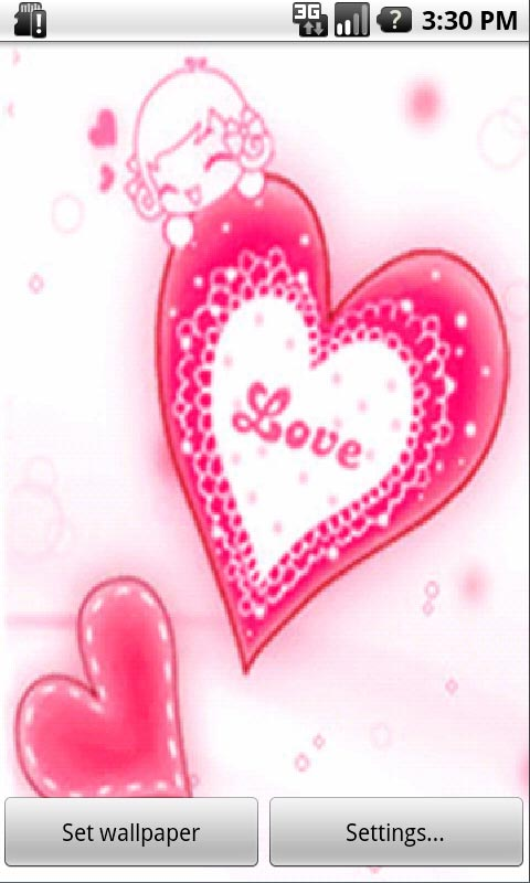Download Pink Heart Live Wallpapers for your Android phone 480x800
