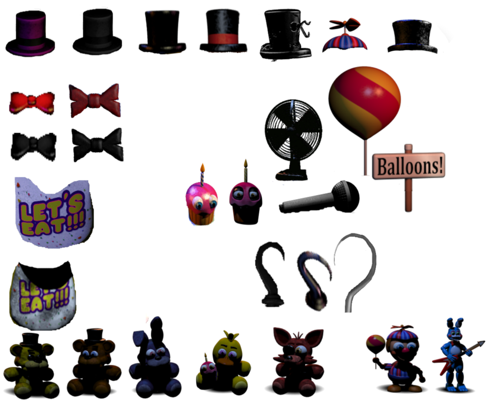 FNAF prop pack UPDATE by TheRedCat13 993x805
