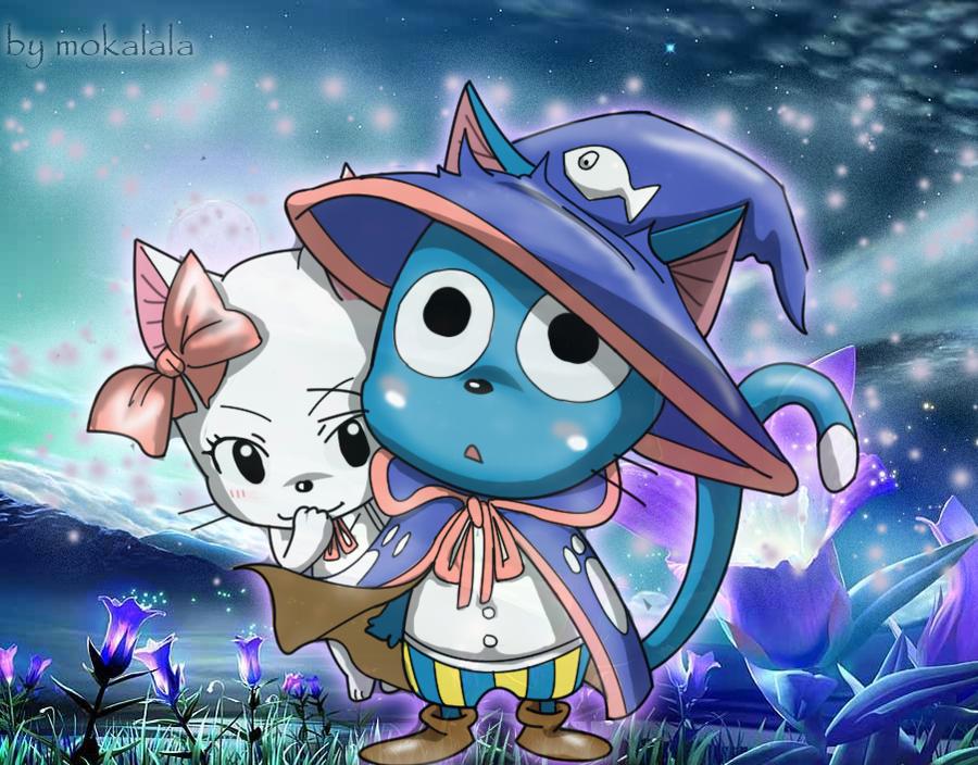 Happy and Carla fairy tail by mokalala 900x704