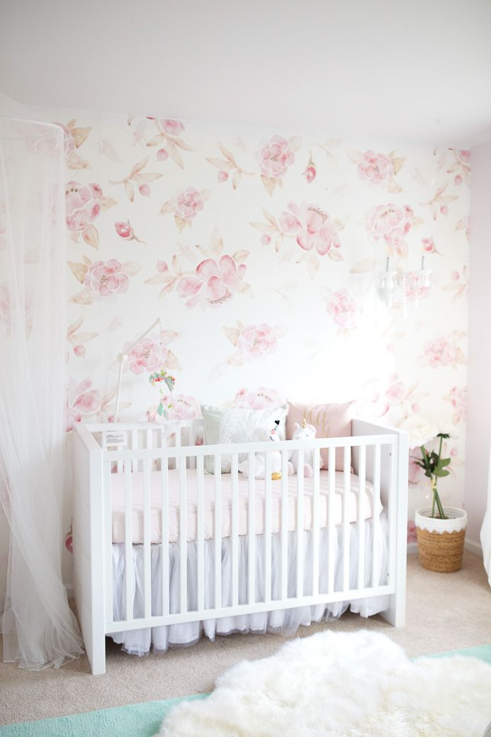 Free Download Harlows Floral Wallpaper Nursery Reveal