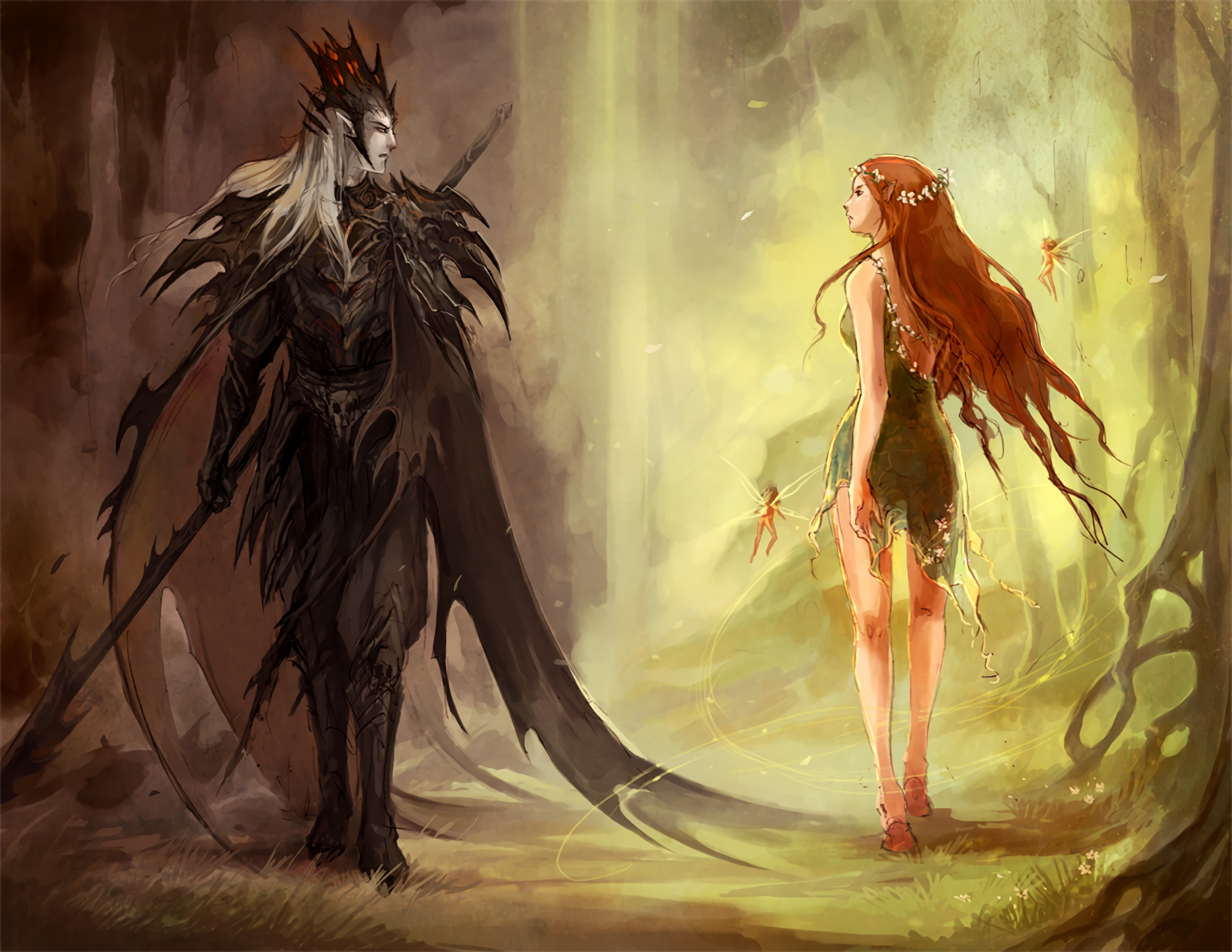 Hades and Persephone HD Wallpaper Background Image 2048x1582 2048x1582