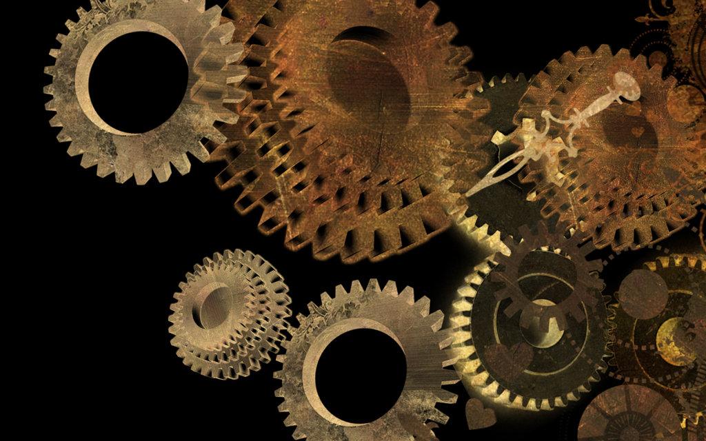 Steampunk Gears Wallpaper Wallpapersafari