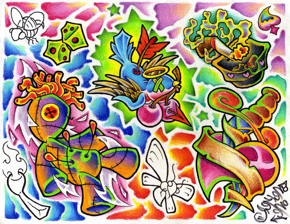 Tattoo Flash Wallpaper by snekerone 1017x786