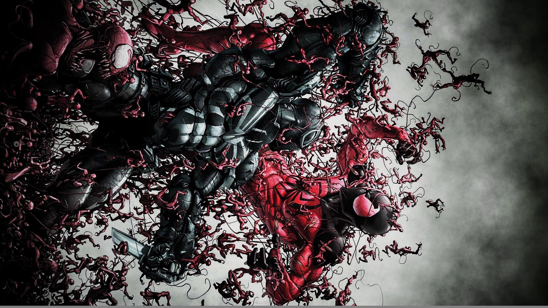 Agent Venom Wallpaper Agent Venom vs The Scarlet 1920x1080