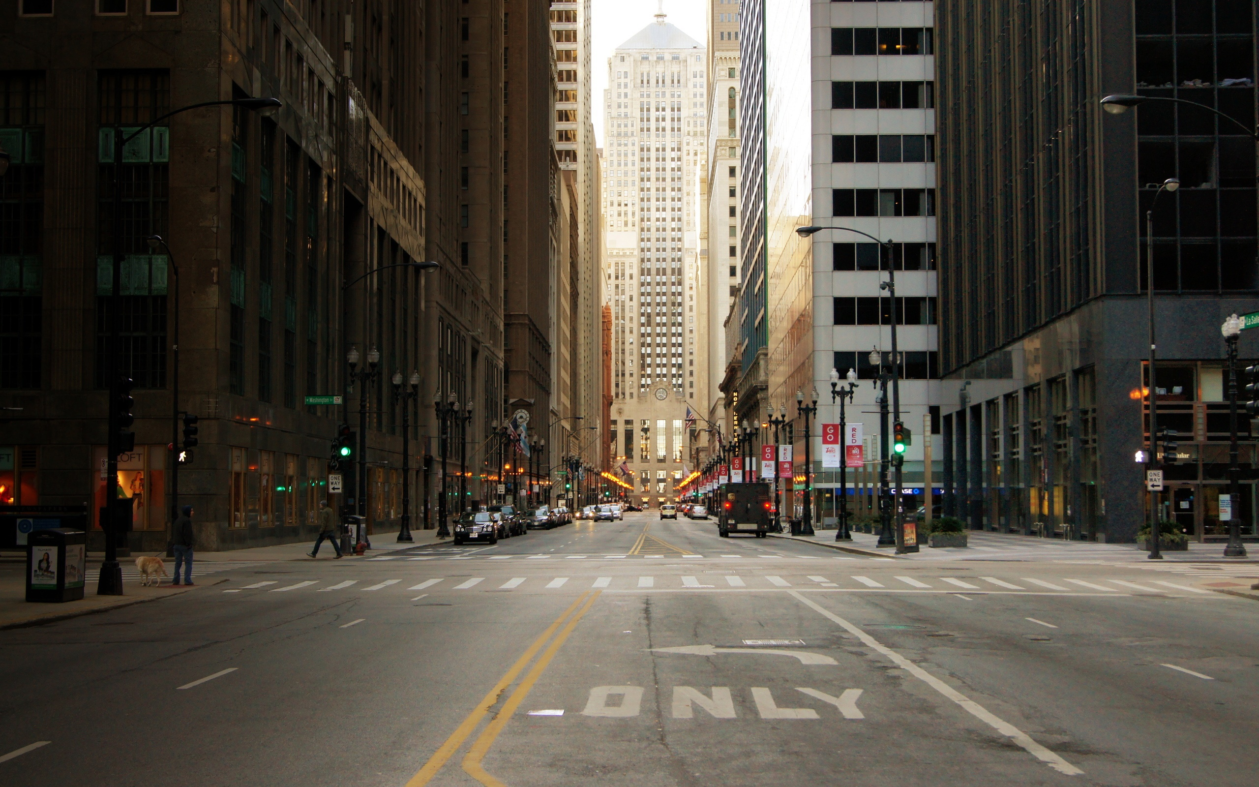 City-street-of-Chicago-in-USA-skyscrapers-Wallpaper-Background ... Street