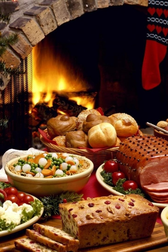 640x960 Christmas Food Iphone 4 wallpaper 640x960