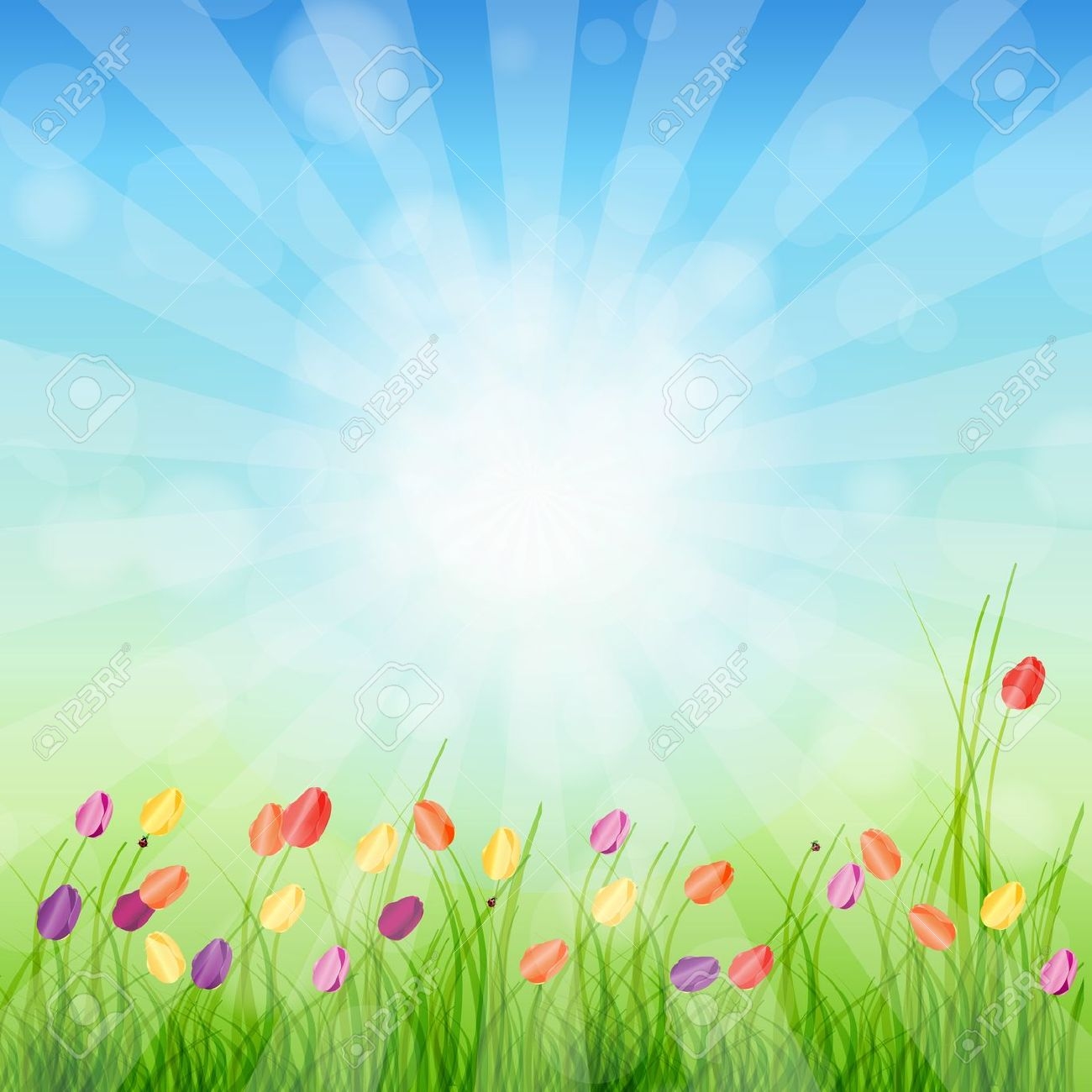 Spring Background Clipart Group with 62 items 1300x1300