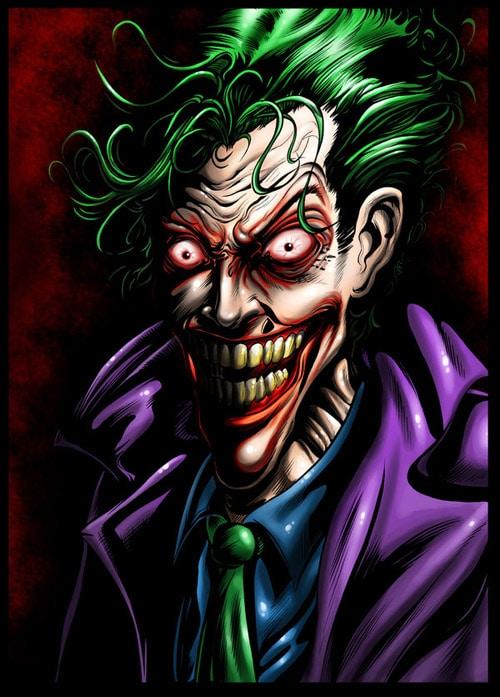 The Joker Comic Book Inspired Artwork   designrfixcom 500x697
