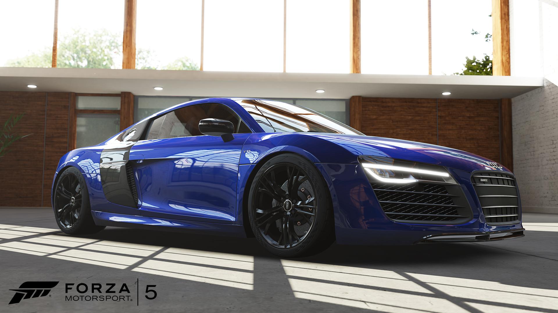Forza5 CarReveal R8V10plus WM 1920x1080