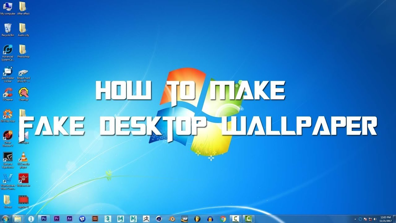 How to make fake desktop wallpaper for your windos By Breez studio 1280x720