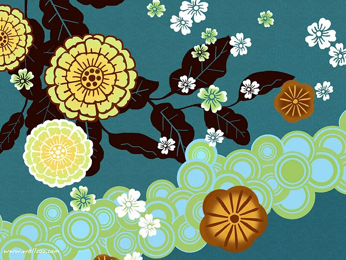 Design and Floral Graphics Japanese Style Floral Design Bold 700x525