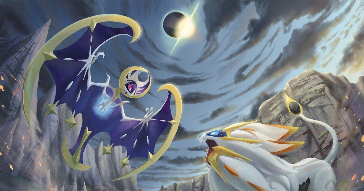 Pokemon Wallpaper Solgaleo And Lunala Drages Pokemon 1200x630
