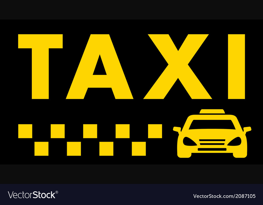 Black taxi background Royalty Vector Image 1000x780