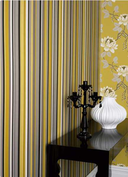 Striped wallpaper patterns for modern wall decorating 434x600