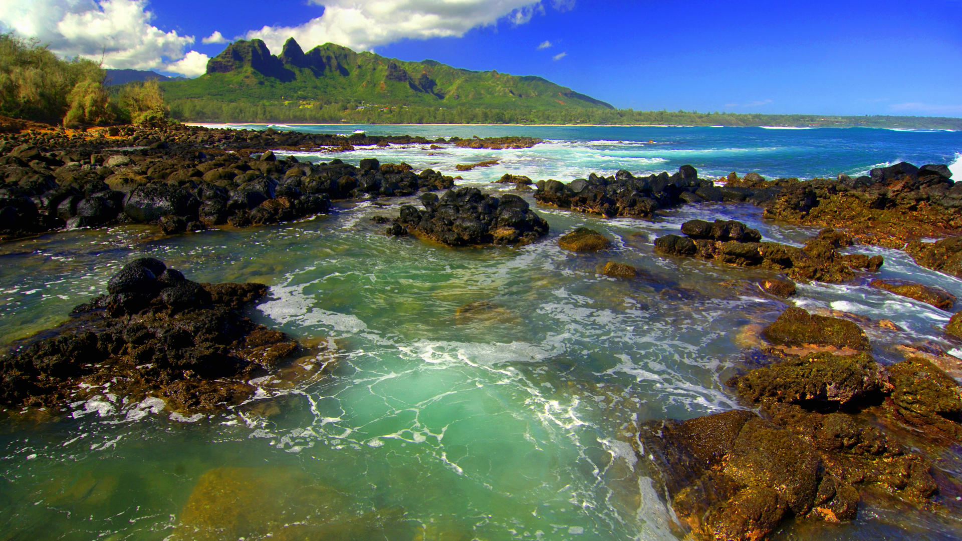 Kong Mountain Seascape Kauai   Cool Backgrounds and Wallpapers 1920x1080