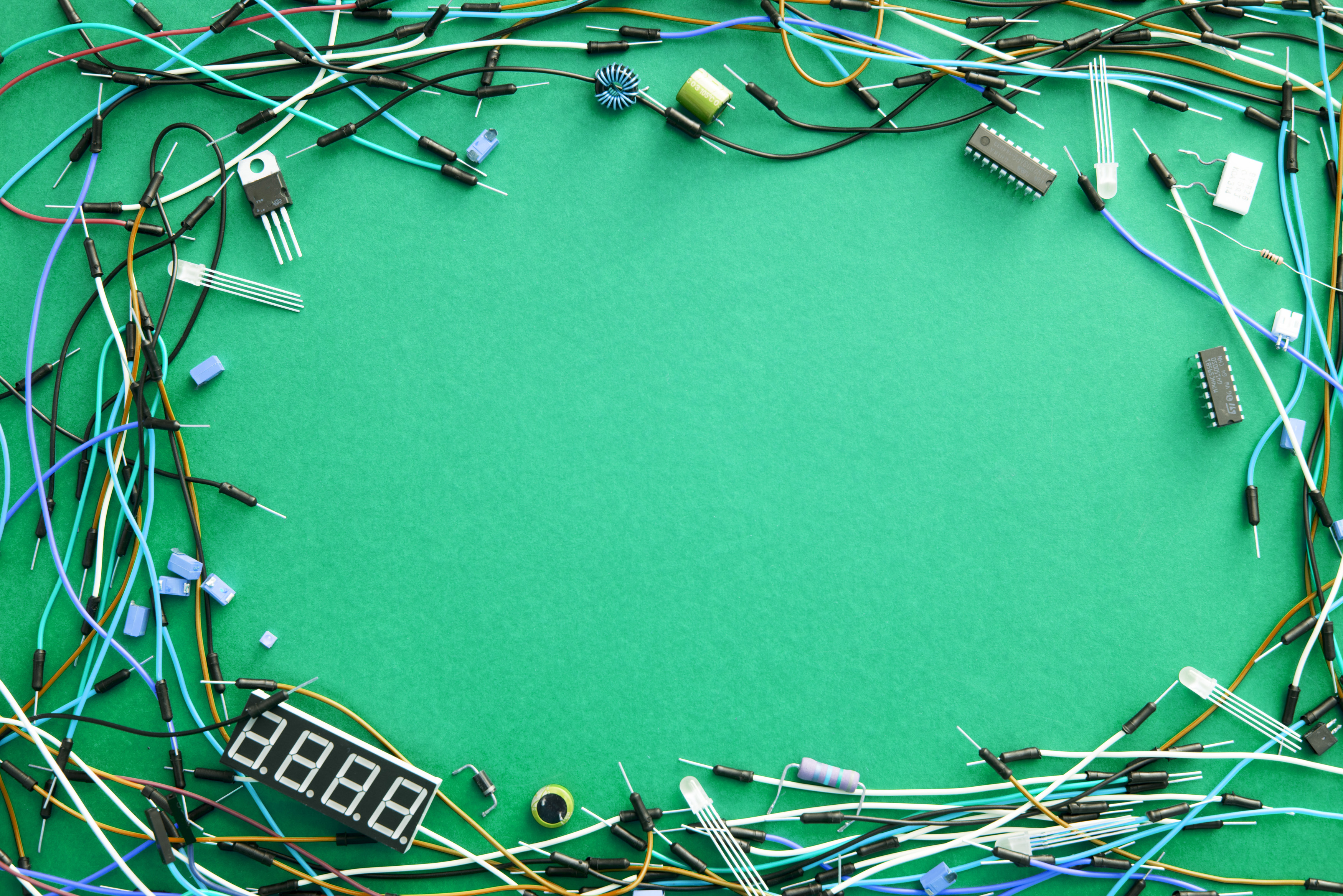 Stock Photo 13100 Background of electronic wires freeimageslive 3500x2336