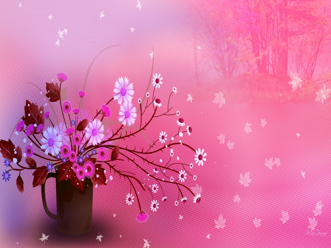 Cute Floral Wallpapers For Girls Lovely Girly Backgrounds Pink 1152x864