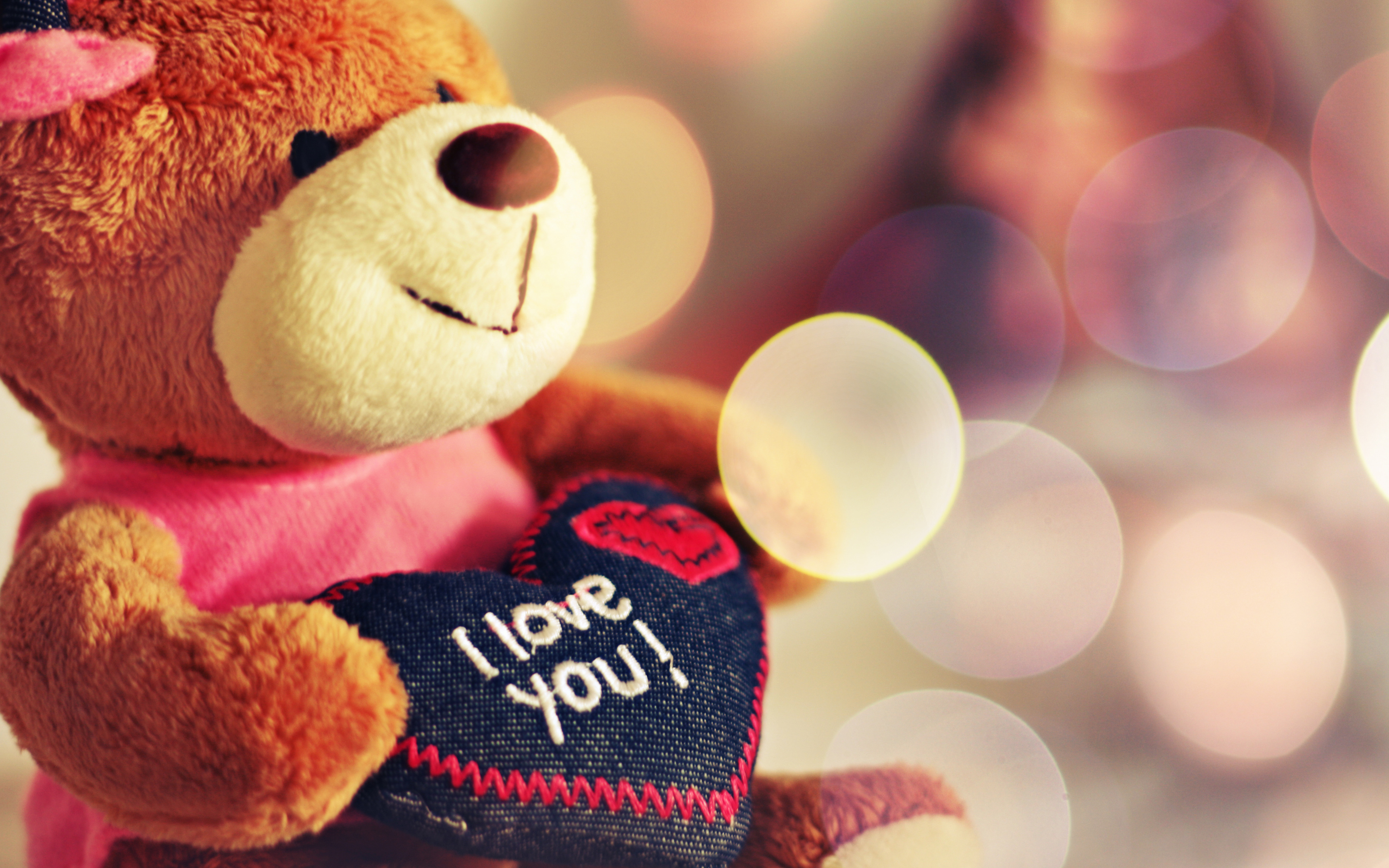 Love You Teddy Bear Wallpapers HD Wallpapers 3500x2188