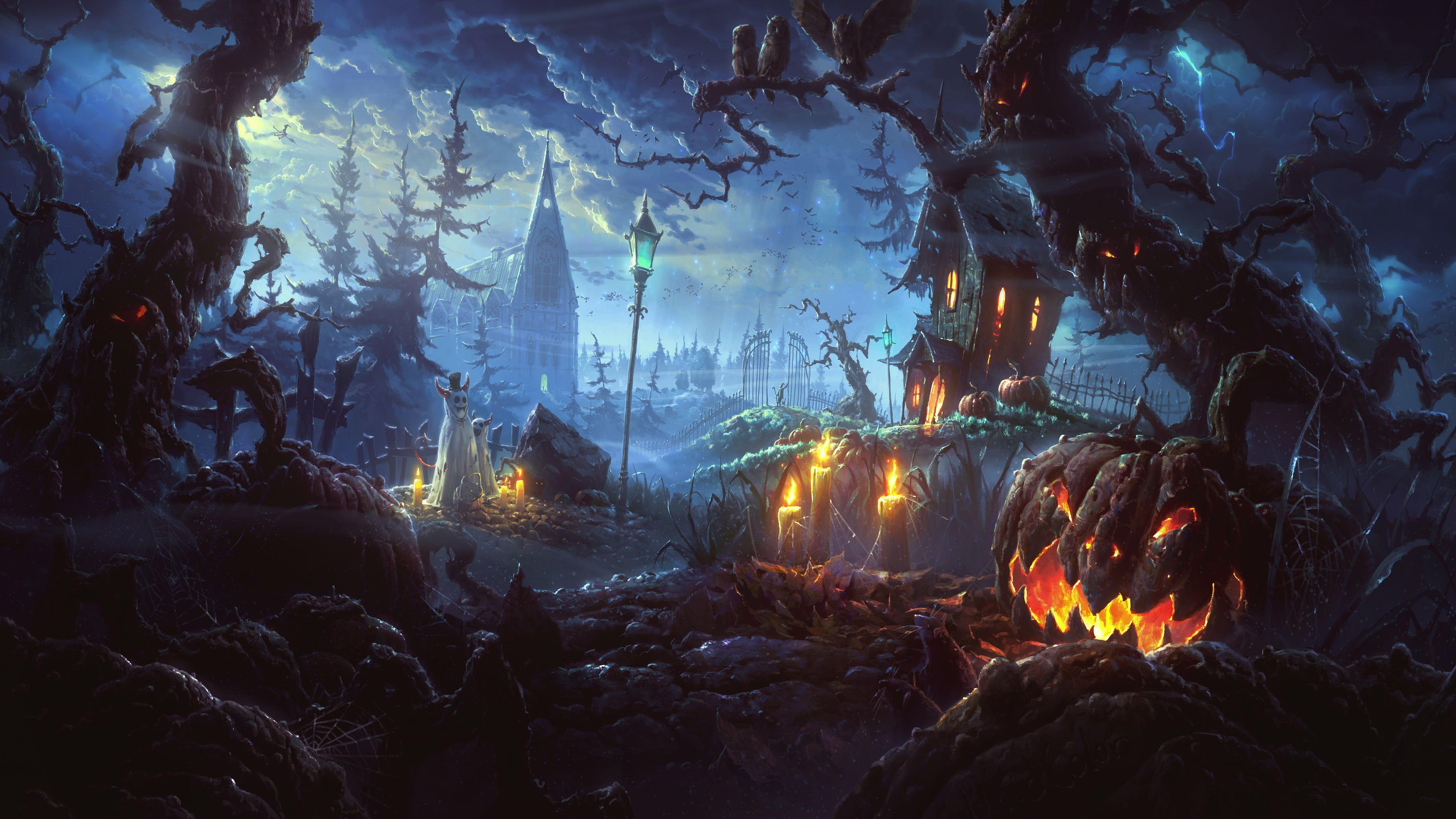 Halloween wallpapers computer desktop hd wallpapers 4000x2250