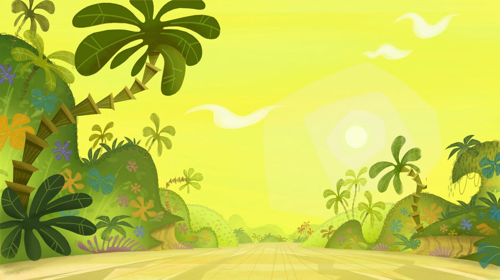 Free Download Jungle Road Background Wallpaper Hd 1600x898