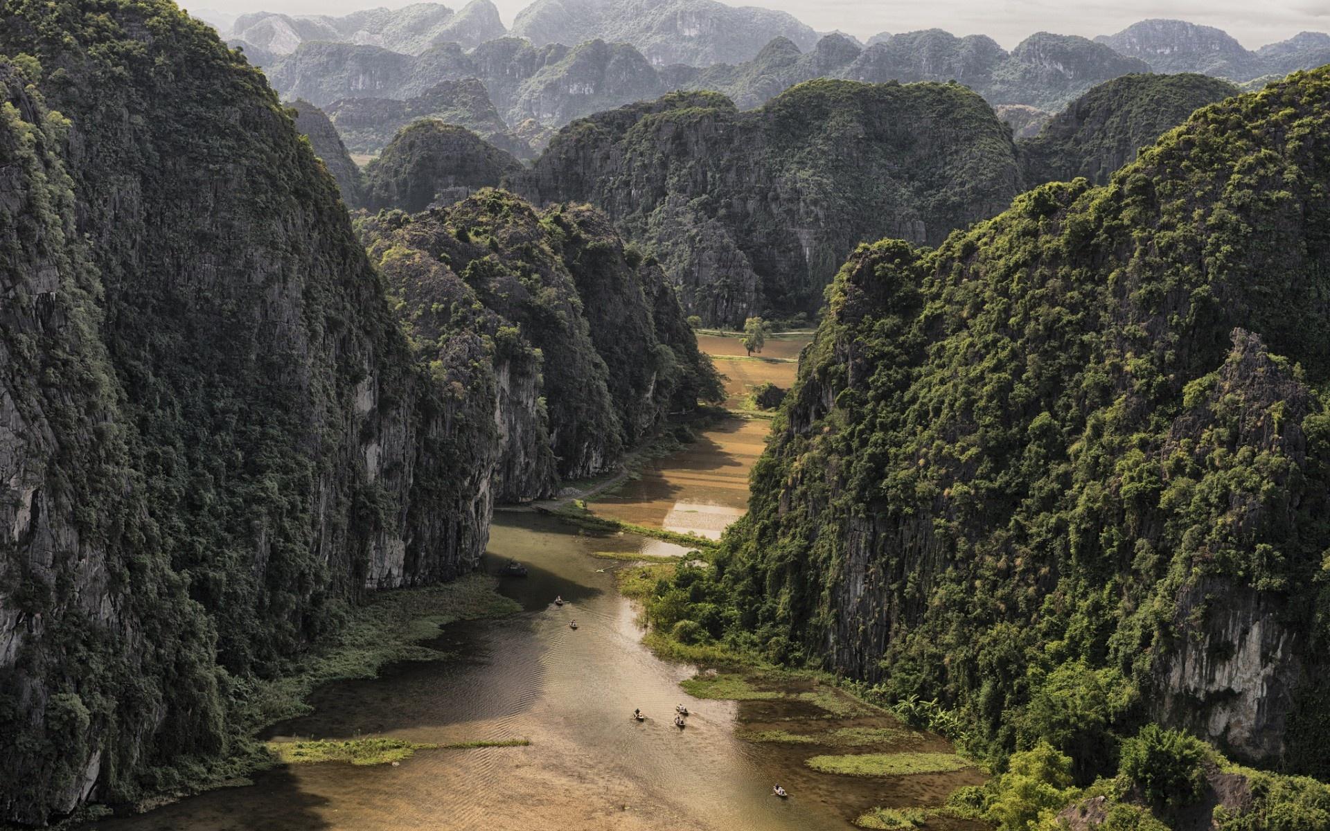 Wallpaper Near Tam Coc Vietnam mountains desktop wallpaper Nature 1920x1200