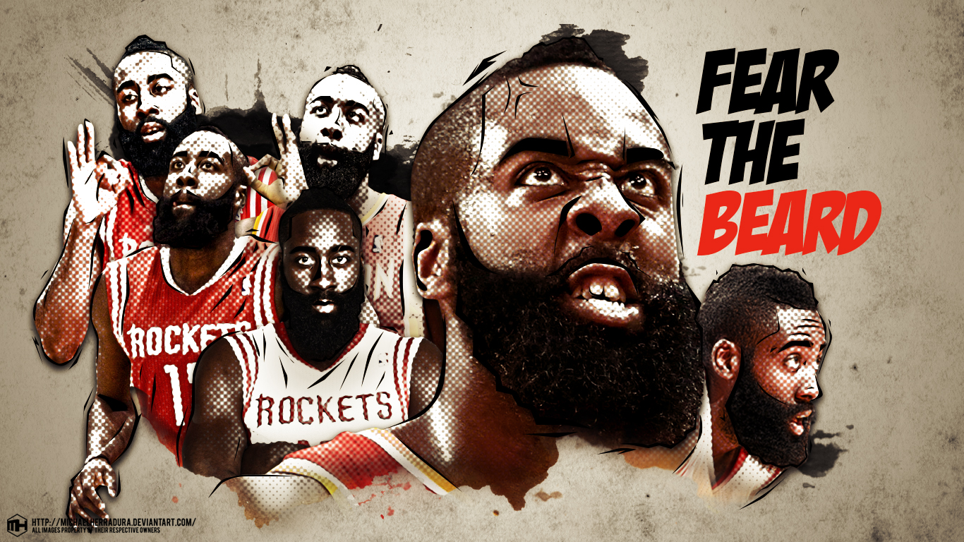 James Harden Fear the Beard wallpaper ver 2 by michaelherradura on 1366x768