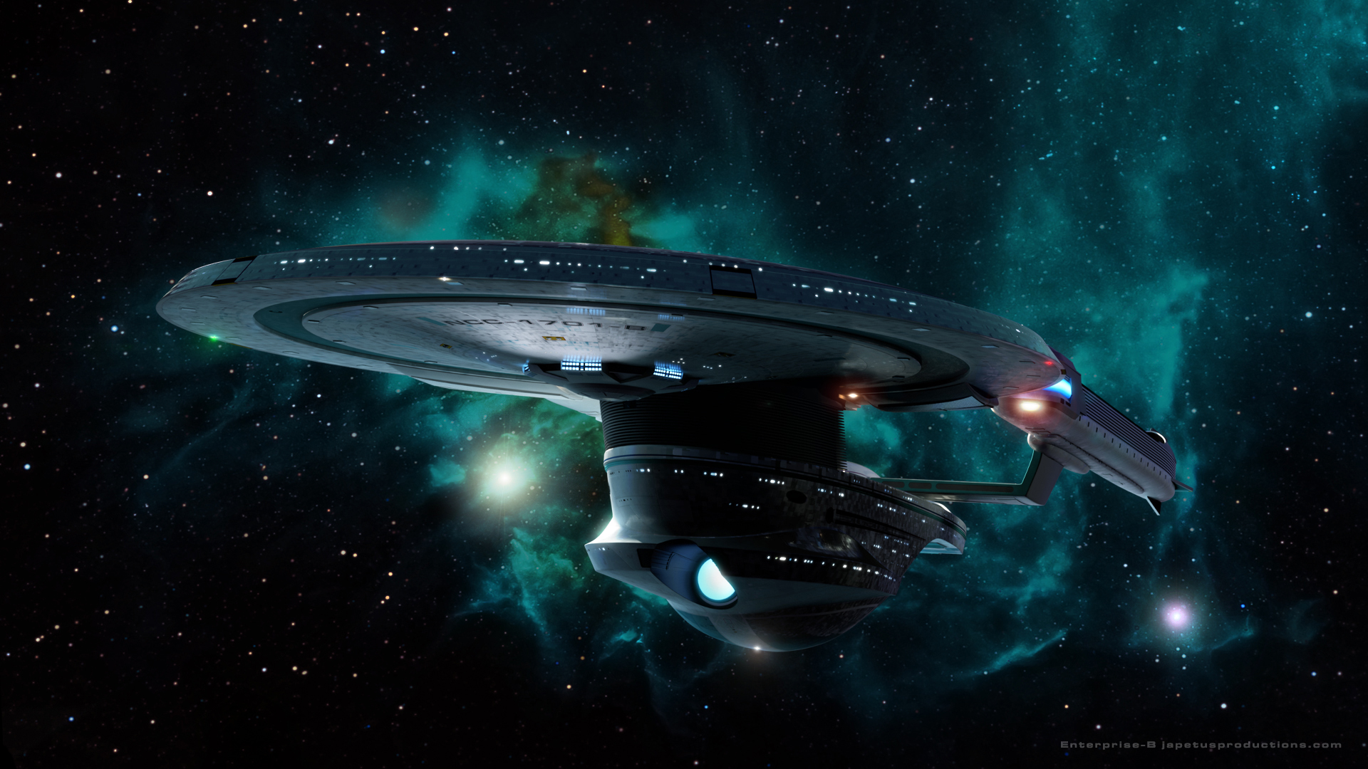 Star Trek Starship Enterprise Spaceship Stars Nebula 1920x1080