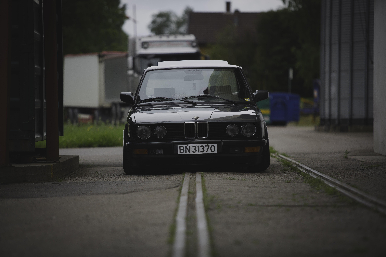 Black BMW car BMW E28 BMW car vehicle HD wallpaper Wallpaper 5760x3840