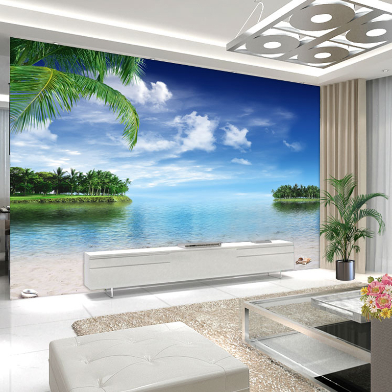 Free Download Cool 3d Beach Coconut Island Large Mural Wallpaper Living Room Bedroom 800x800 For Your Desktop Mobile Tablet Explore 50 Wallpaper Murals Large For Bedrooms Extra Large Wallpaper