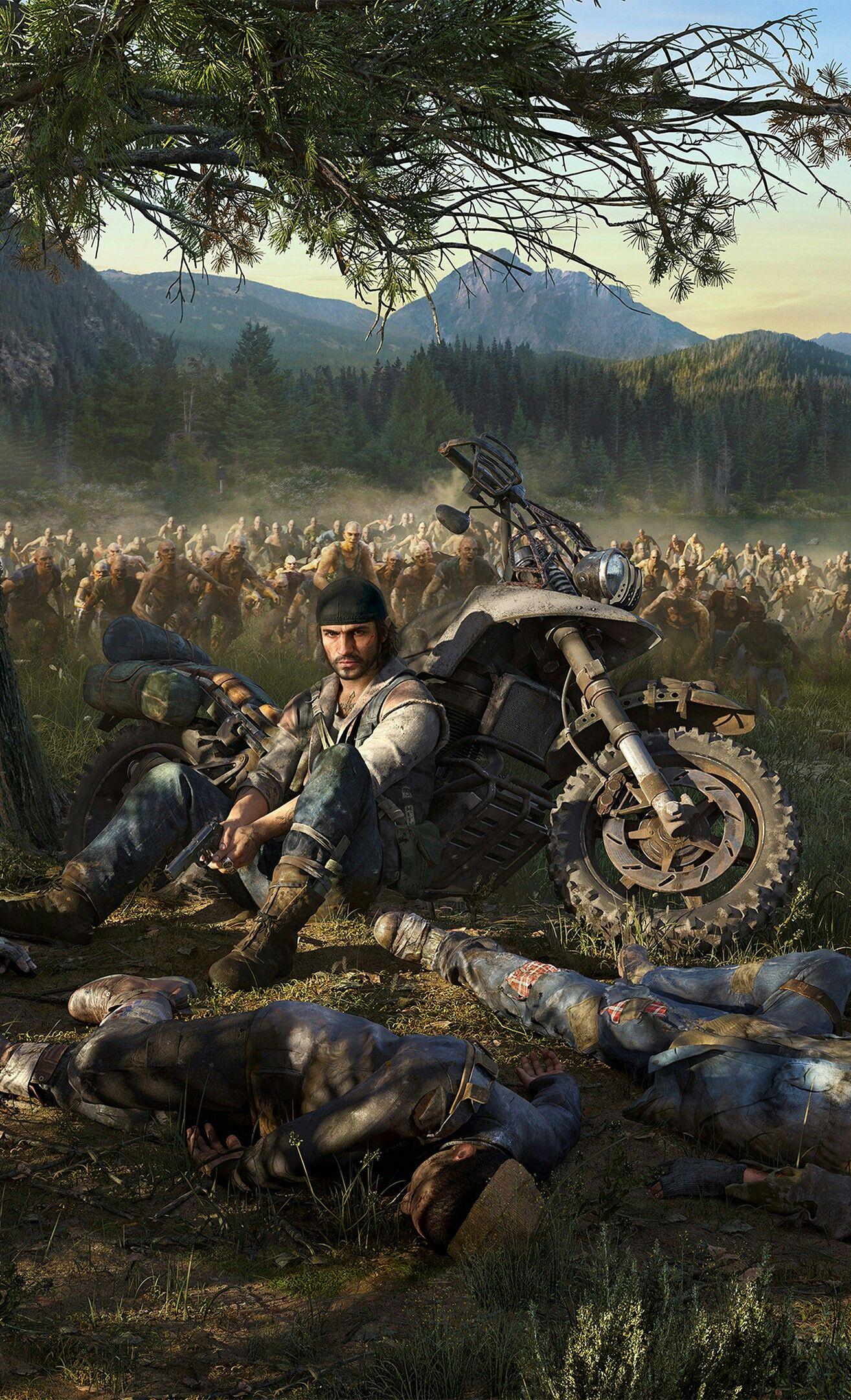 Days gone Jogos de zumbi Jogos de video game Arte de jogos 1314x2160