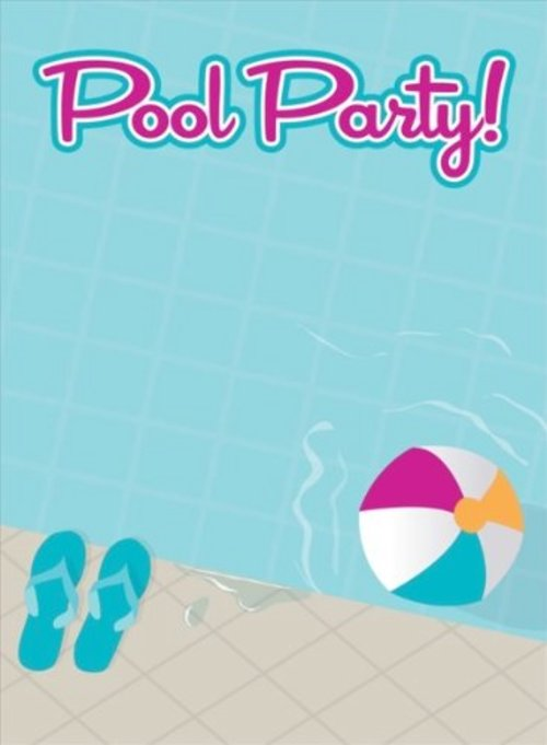Pool party wallpaper wallpapersafari for Free clipart swimming pool party