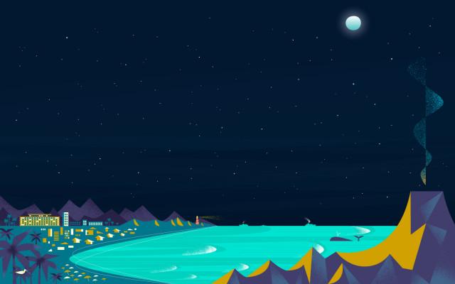 Tablet Wallpaper Beach Google now beach night 640x400