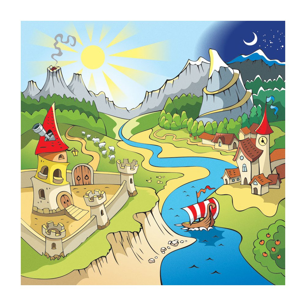 MD3089 Dreamland Cartoon Kid Removable Wallpaper Mural Lowes Canada 1000x1000