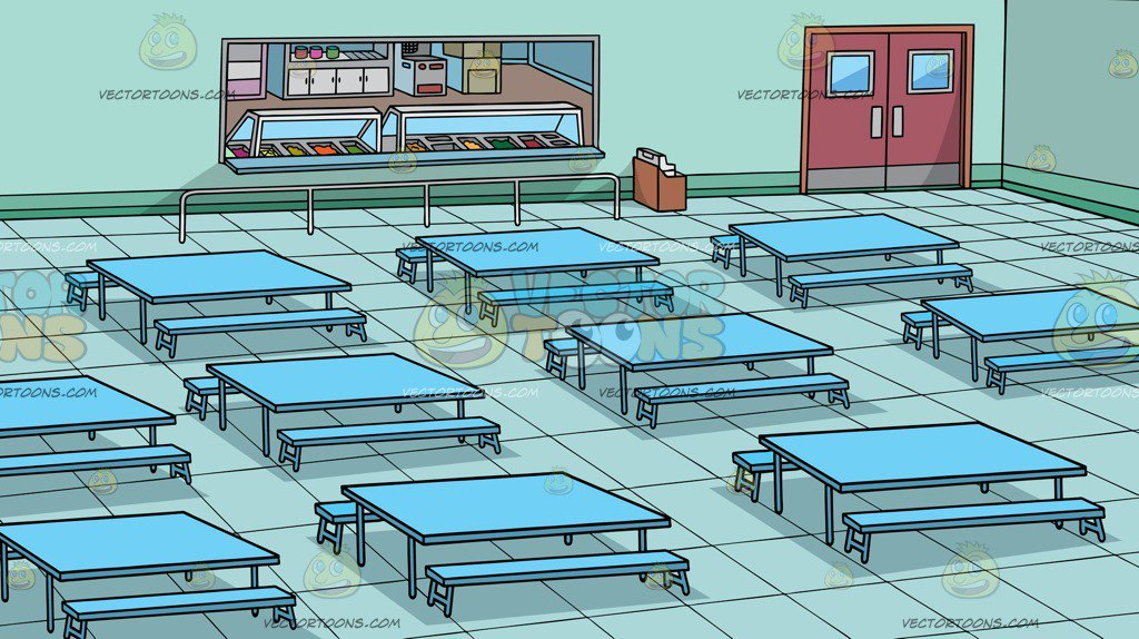 A School Cafeteria Background Clipart Cartoons By VectorToons 1024x574