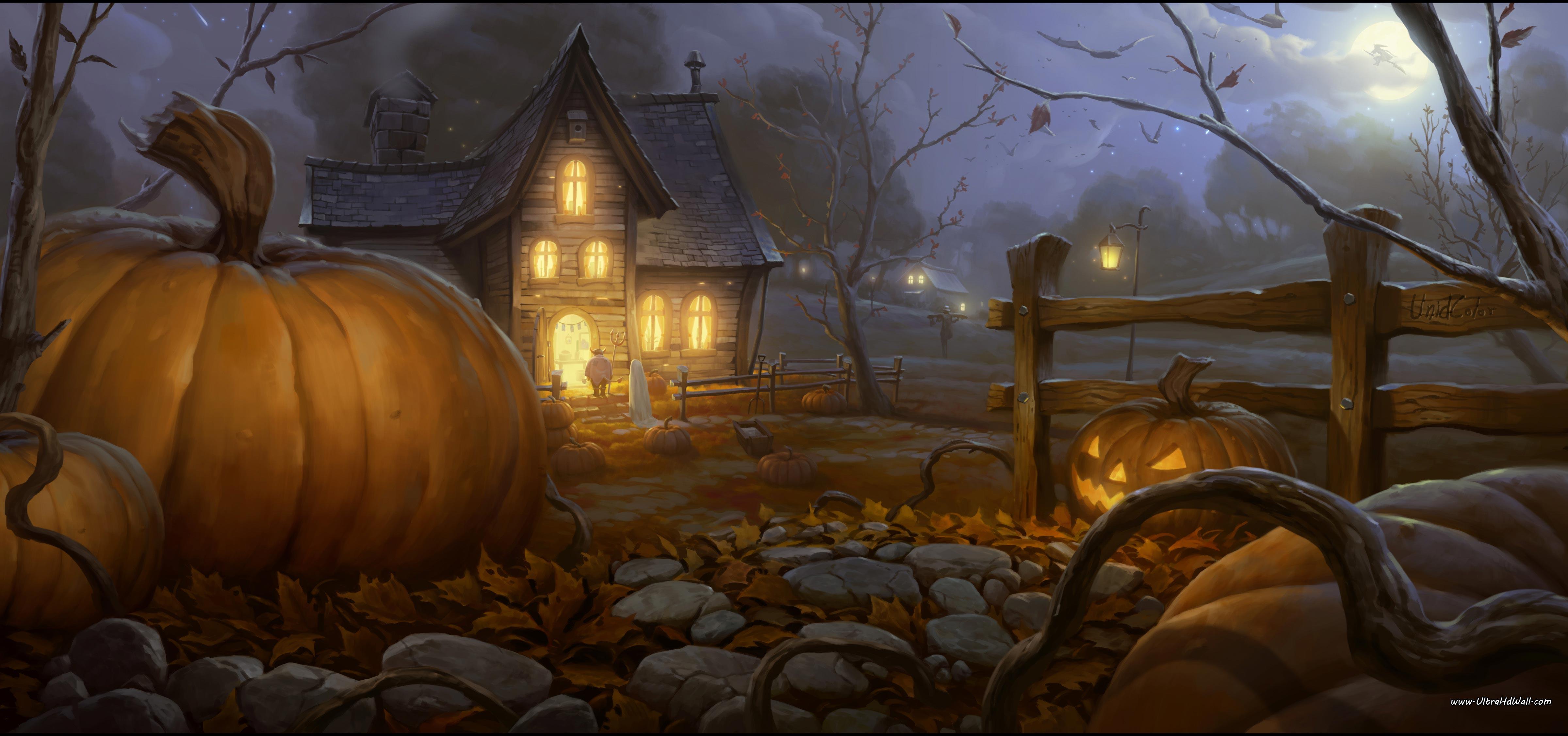Halloween Desktop Wallpaper 4800x2253