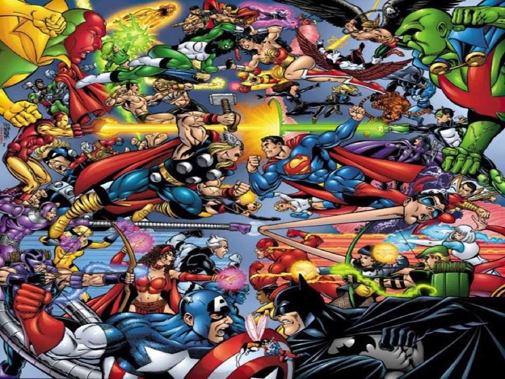 Marvel vs dc wallpaper wallpapersafari - Marvel and dc wallpapers ...