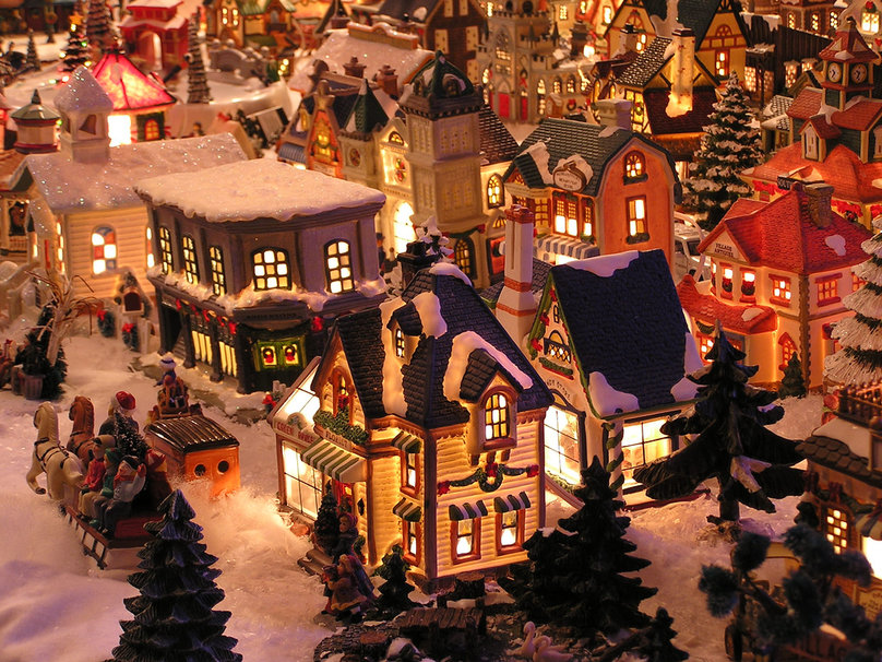Christmas village wallpaper   ForWallpapercom 808x606