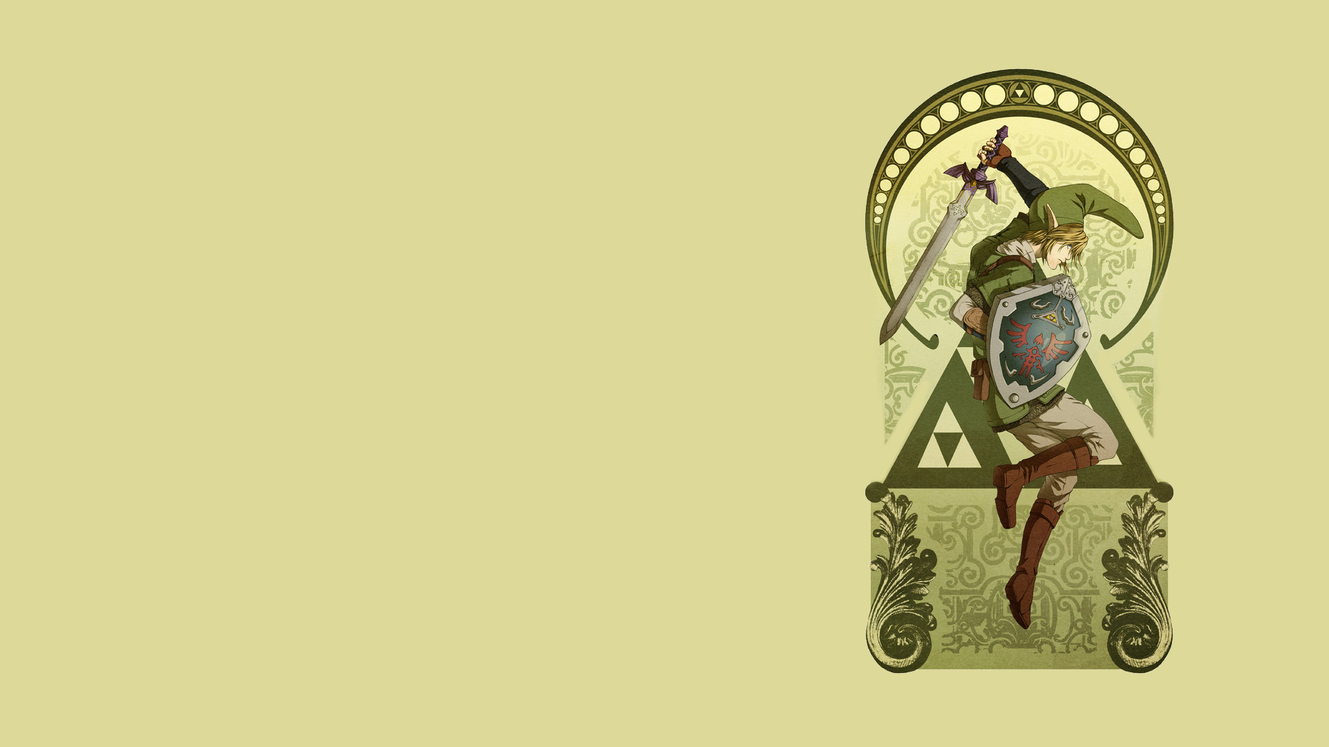 Link Zelda Wallpaper 1920x1080 Link Zelda Shield The Legend Of 1920x1080