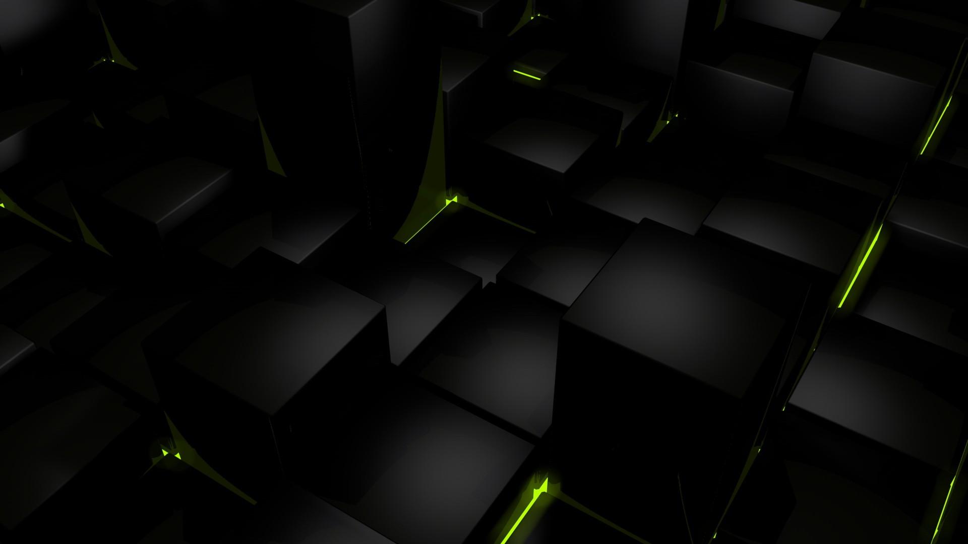 Black cubes wallpaper   678475 1920x1080