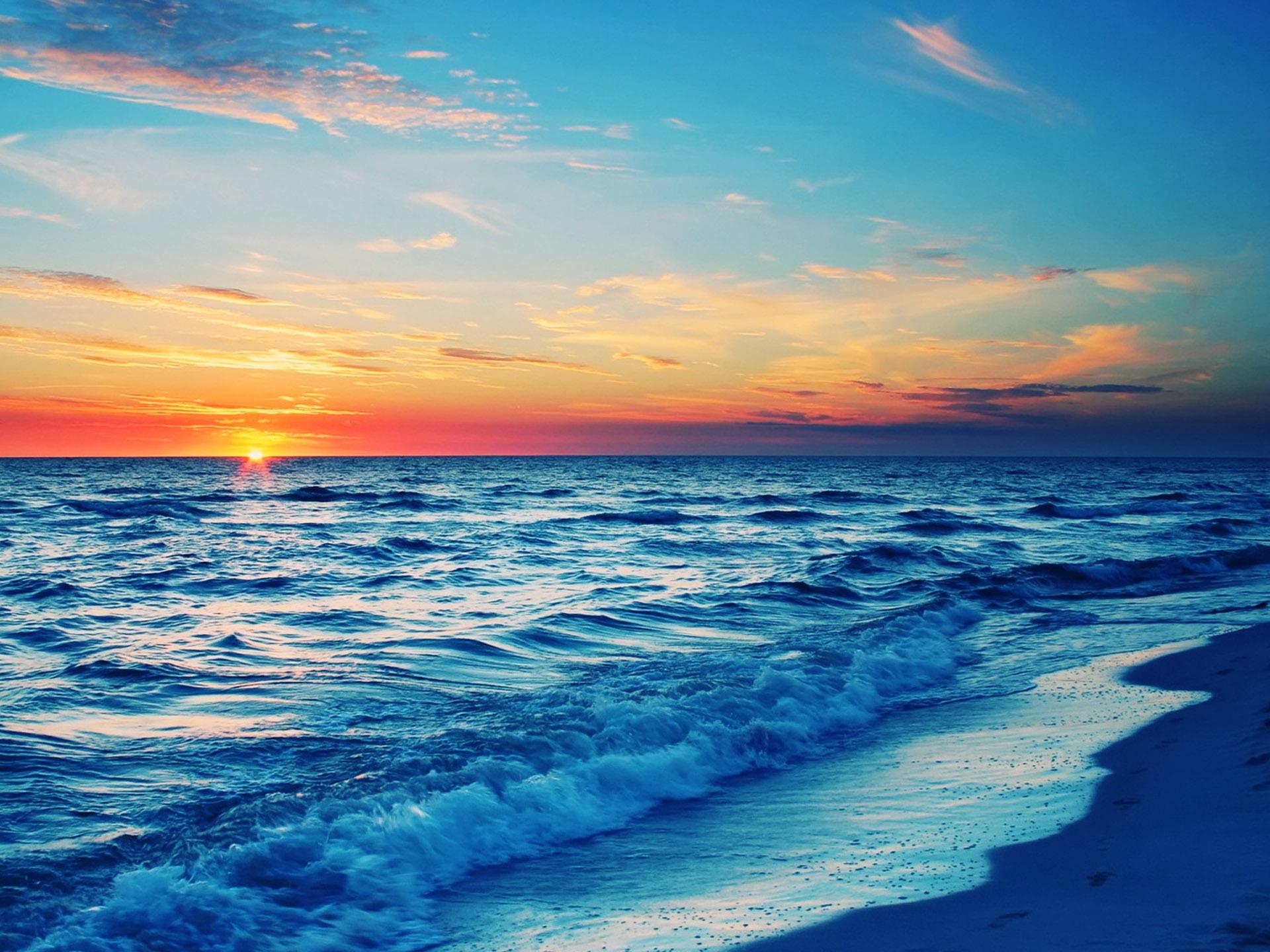 Stunning Ocean Sunset Wallpaper 35977 1920x1440px 1920x1440