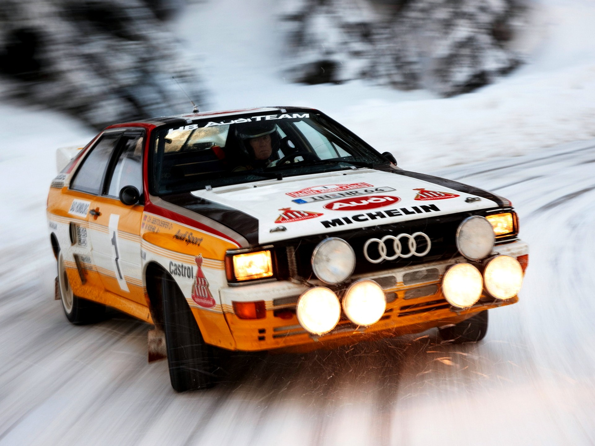 Wallpapers car wallpapers audi quattro group b rally car snow 1920x1440