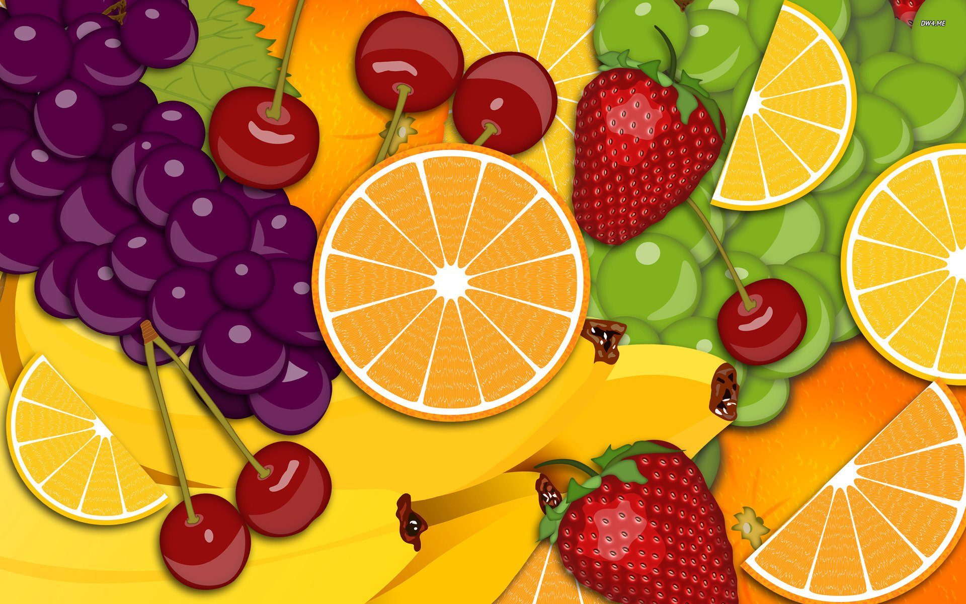 All the fruits wallpaper - Fruit Wallpaper Vector Wallpapers 1245