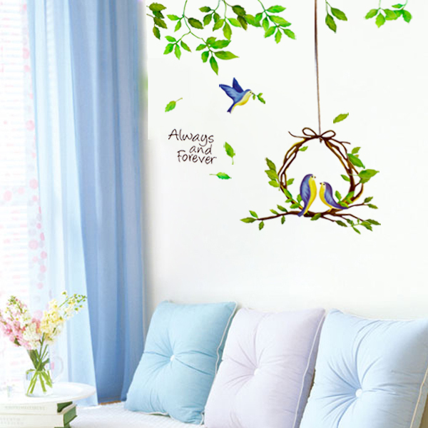 Aliexpresscom Buy Bird Tree Removable large background Wall Sticker 600x600