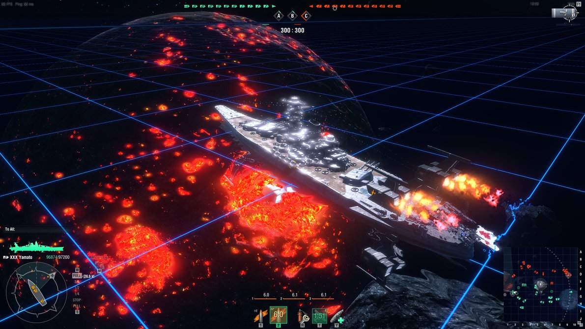 World of Warships Space Yamato by LawrenceXVIII 1191x670