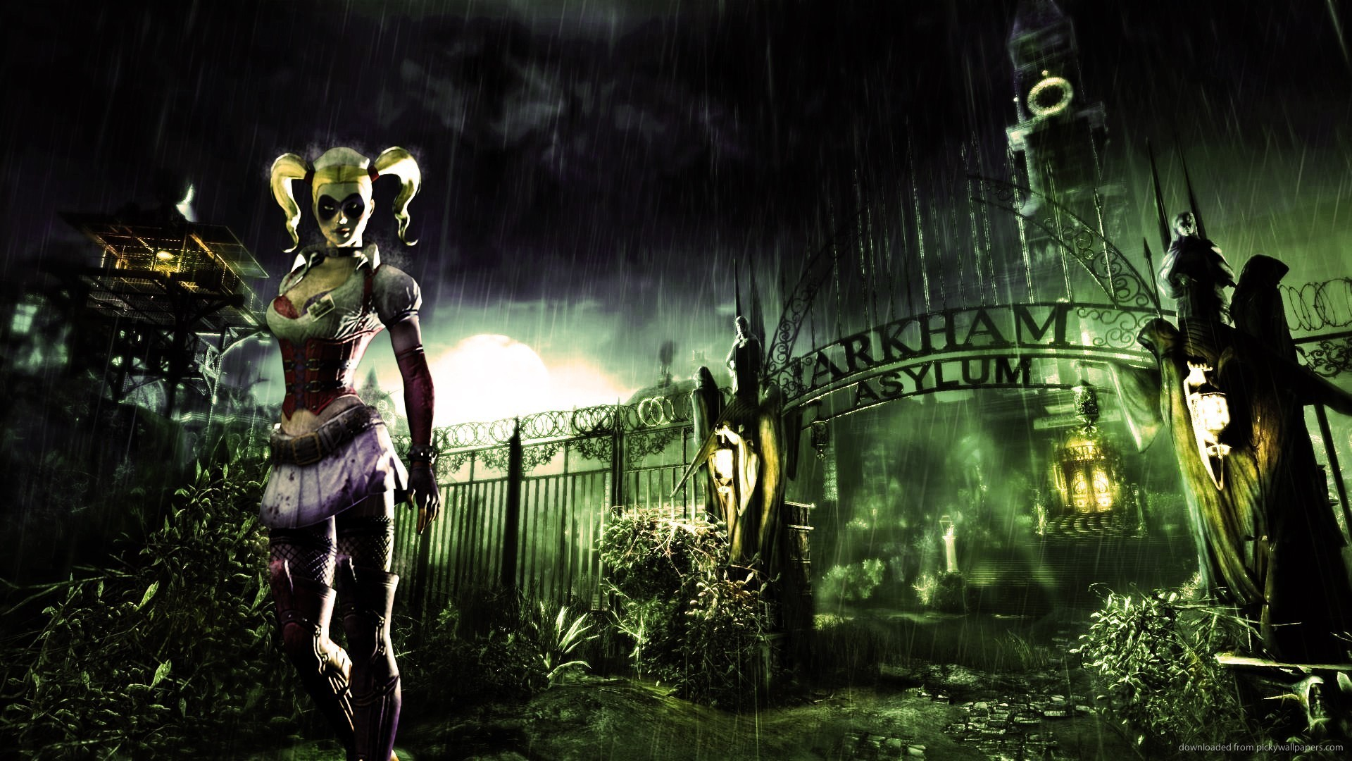 1920x1080 Harley Quinn In Batman Arkham Asylum Wallpaper 1920x1080