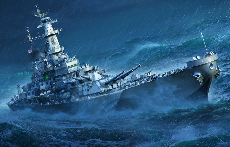 Wallpaper Storm Missouri World of Warships Battleship images 1332x850
