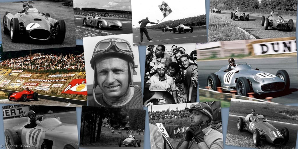 Juan Manuel Fangio wallpapers images quotes Ferrari Mercedes 1024x512