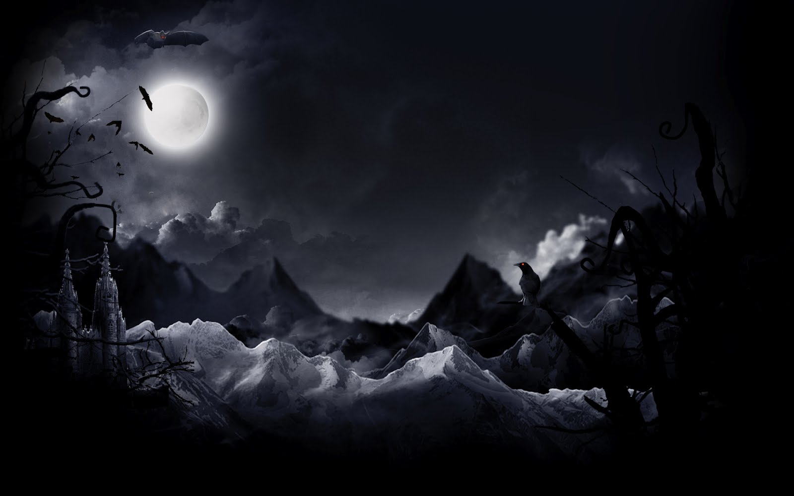 Halloween Wallpapers   Halloween Wallpapers Halloween Moon 1600x1000